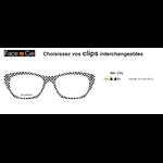 Clips Face & Cie - CIE 122 - Thème City - coloris Damier