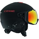 Casque de ski Cébé - Element Visor - Noir et rouge - Cat.3 + Cat.1