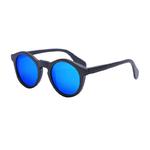 Lunettes en Bois - Gris Miroir Bleu - Cat.3 Polarisé - Taille 47x23