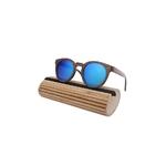 Lunettes en Bois - Miroir bleu Cat.3 Polarisé - Taille 48x24