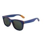 Lunettes en Bois - Bleu - Polarisé Cat.3 - Taille 53x20