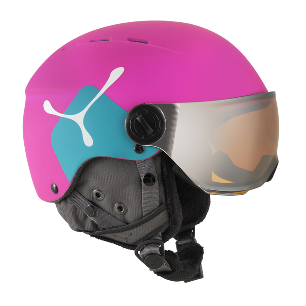 casque de ski c b junior fireball taille 50 54cm. Black Bedroom Furniture Sets. Home Design Ideas