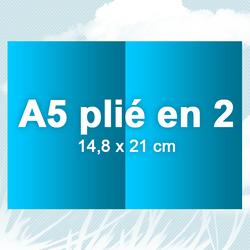 A5 plié en 2