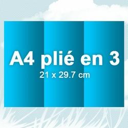 Dépliant A4 plié en 3