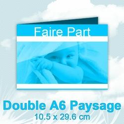 FairePart Double A6 Paysage