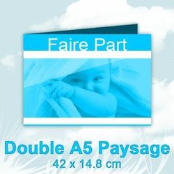 FairePart Double A5 Paysage