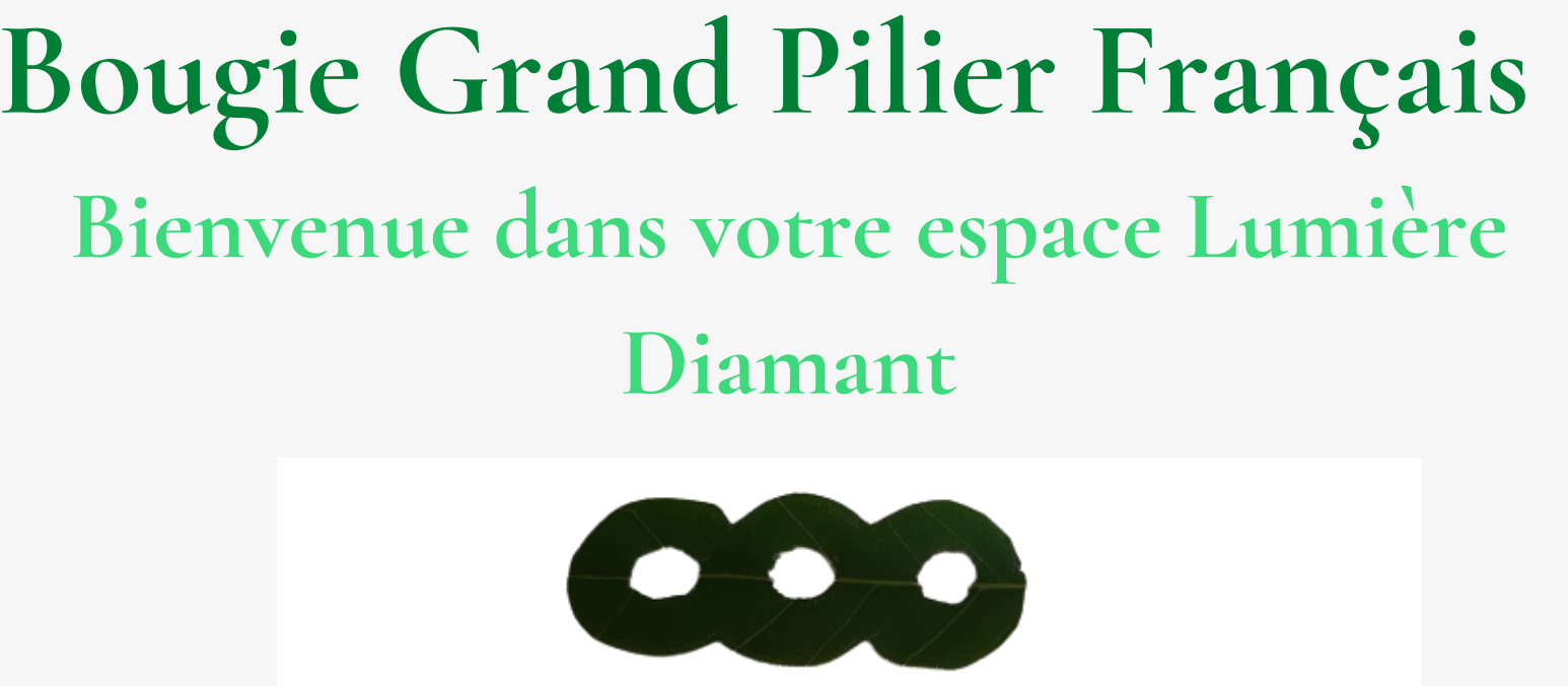 Bougie Grand Pilier Français