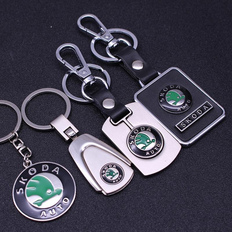 Porte-clés en métal Skoda Auto