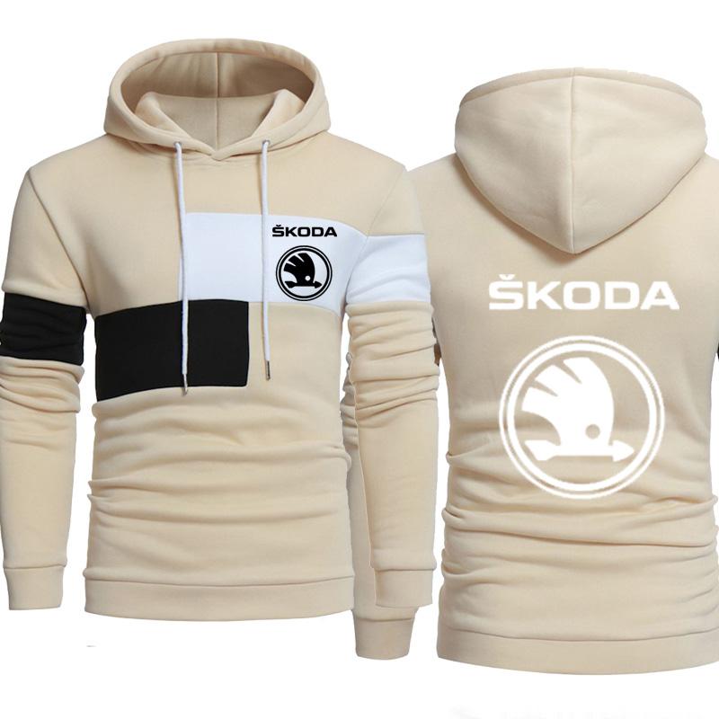 Sweat Skoda à bandes tricolore