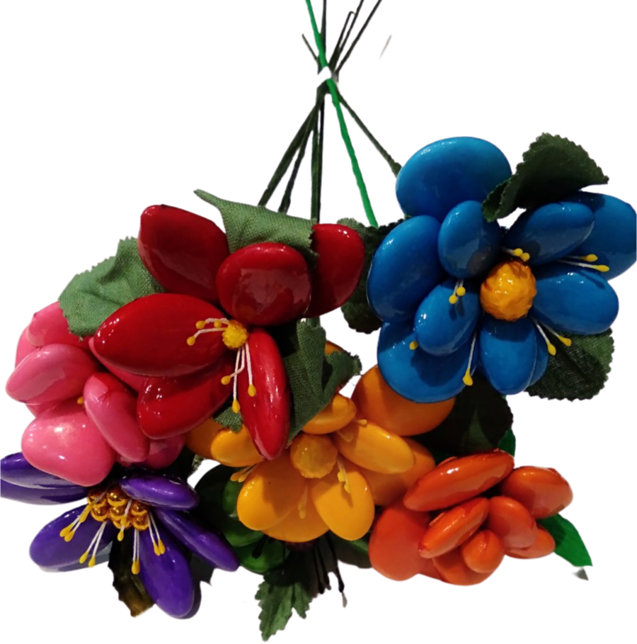 Bouquet amitiés en dragées chocolat