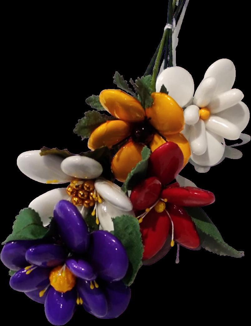 Bouquet merci en dragées chocolat