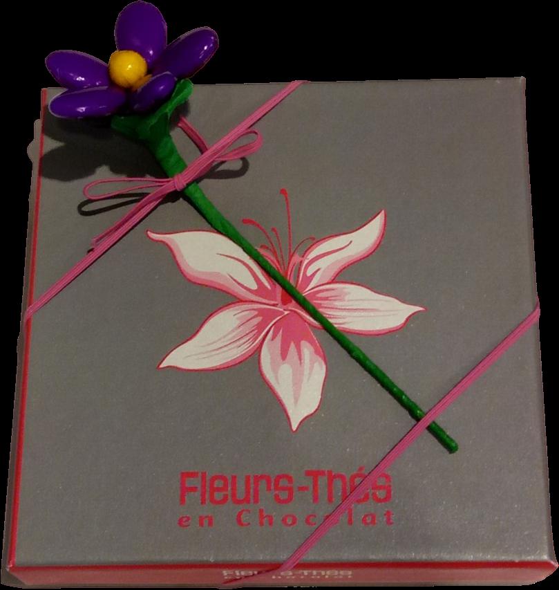 Ecrin de chocolats 440g et fleur de dragées