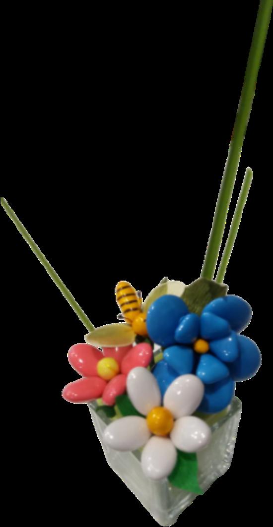 Cube dragées chocolat et abeille