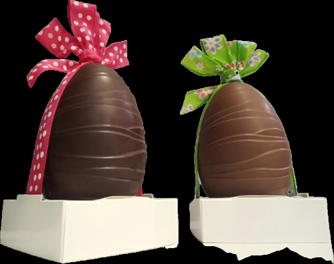 Grand oeuf chocolat Pâques 15 cm