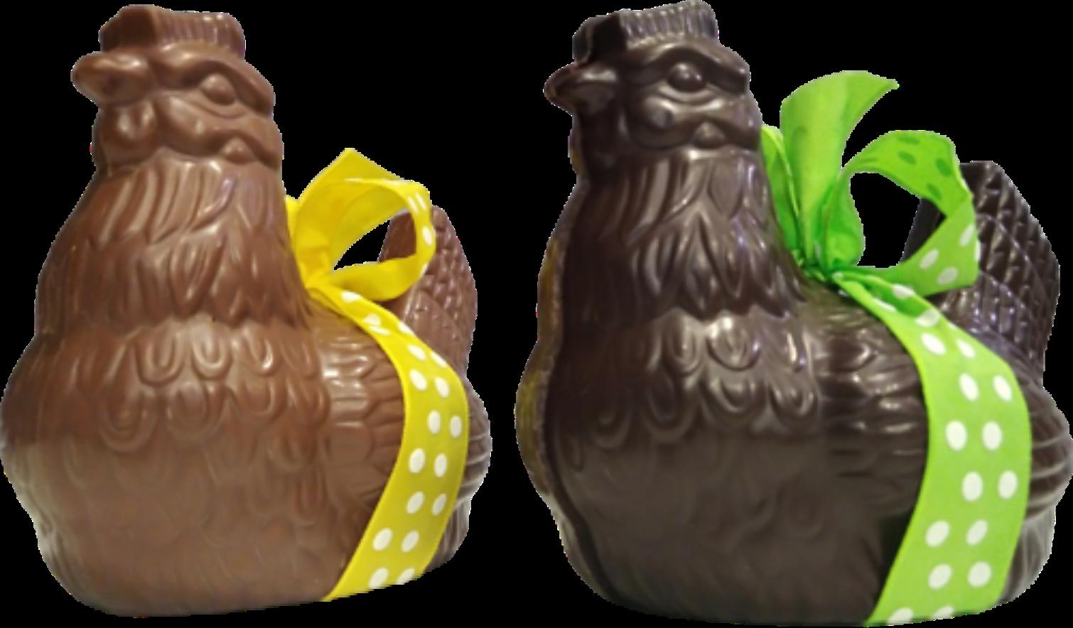 Grande poule chocolat Pâques 13 cm