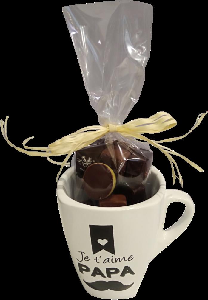 Mug chocolats Je t aime Papa Fête des pères