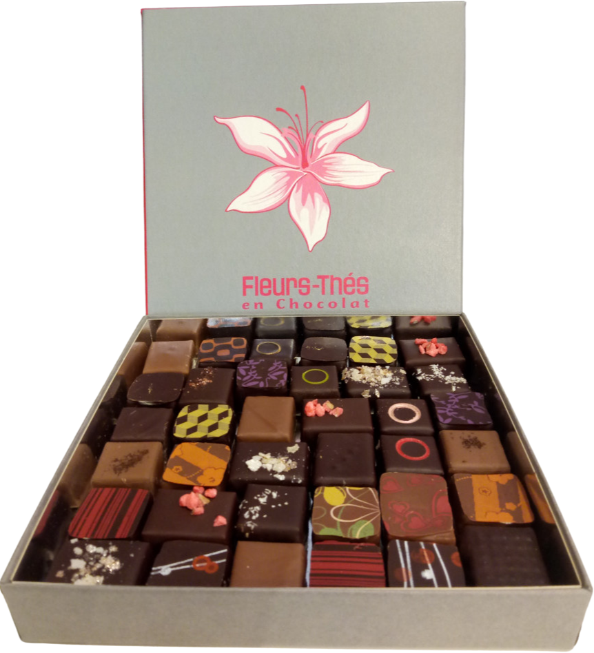 Ecrin chocolats diagonales