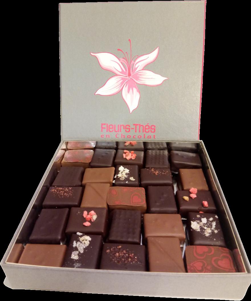 Ecrin chocolats quinconce