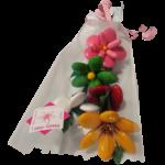 Bouquet confidence en dragées chocolat emballé
