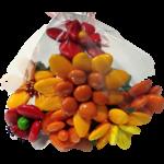 Bouquet rond aestas en dragées chocolat emballé