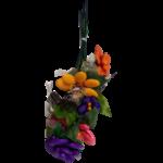 Bouquet multa chocolats, pâtes de fruit, pâte d'amande et dragées chocolat