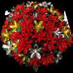 Fleurs de Noel en dragees chocolat