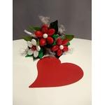 Mini bouquet Saint Valentin chocolats et dragées 2