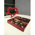 Ecrin coeur chocolats pâtes de fruit et orangettes 2