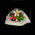 Mini bouquet de pâques friture et dragées chocolat emballe