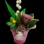 Seau du premier mai chocolat muguet rose pate d amande marguerite dragées face