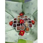 Bouquet chocolats et coquelicots