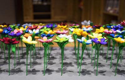 Composition de fleurs de chocolat
