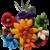 Bouquet rond solaire en dragées chocolat