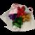 Mini bouquet grenouille et frésias en dragées chocolat