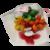 Mini bouquet vache et frésias en dragées chocolat
