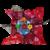 Bouquet festif chocolats et fleurs de dragées chocolat