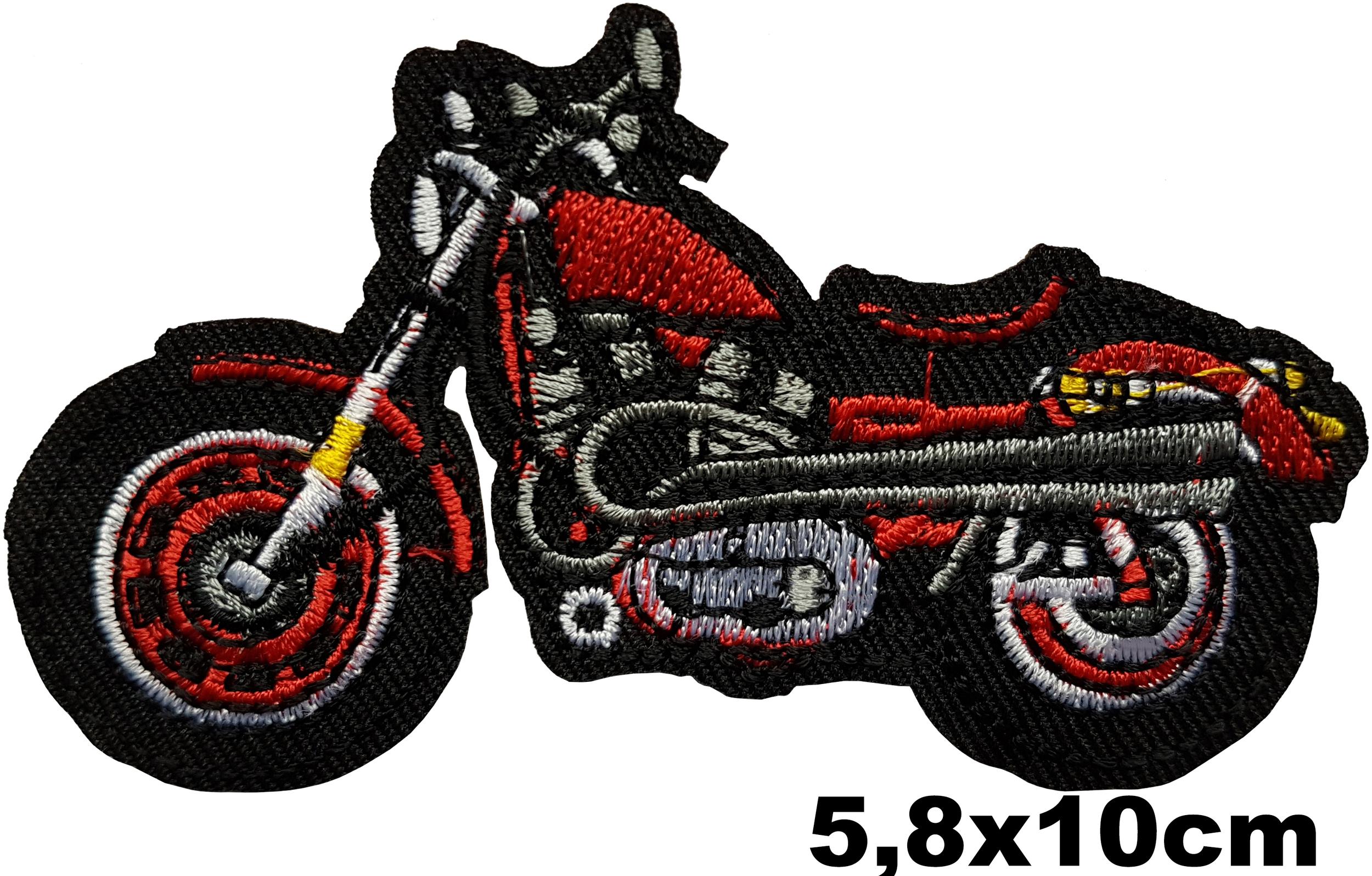Patch motard biker moto rouge