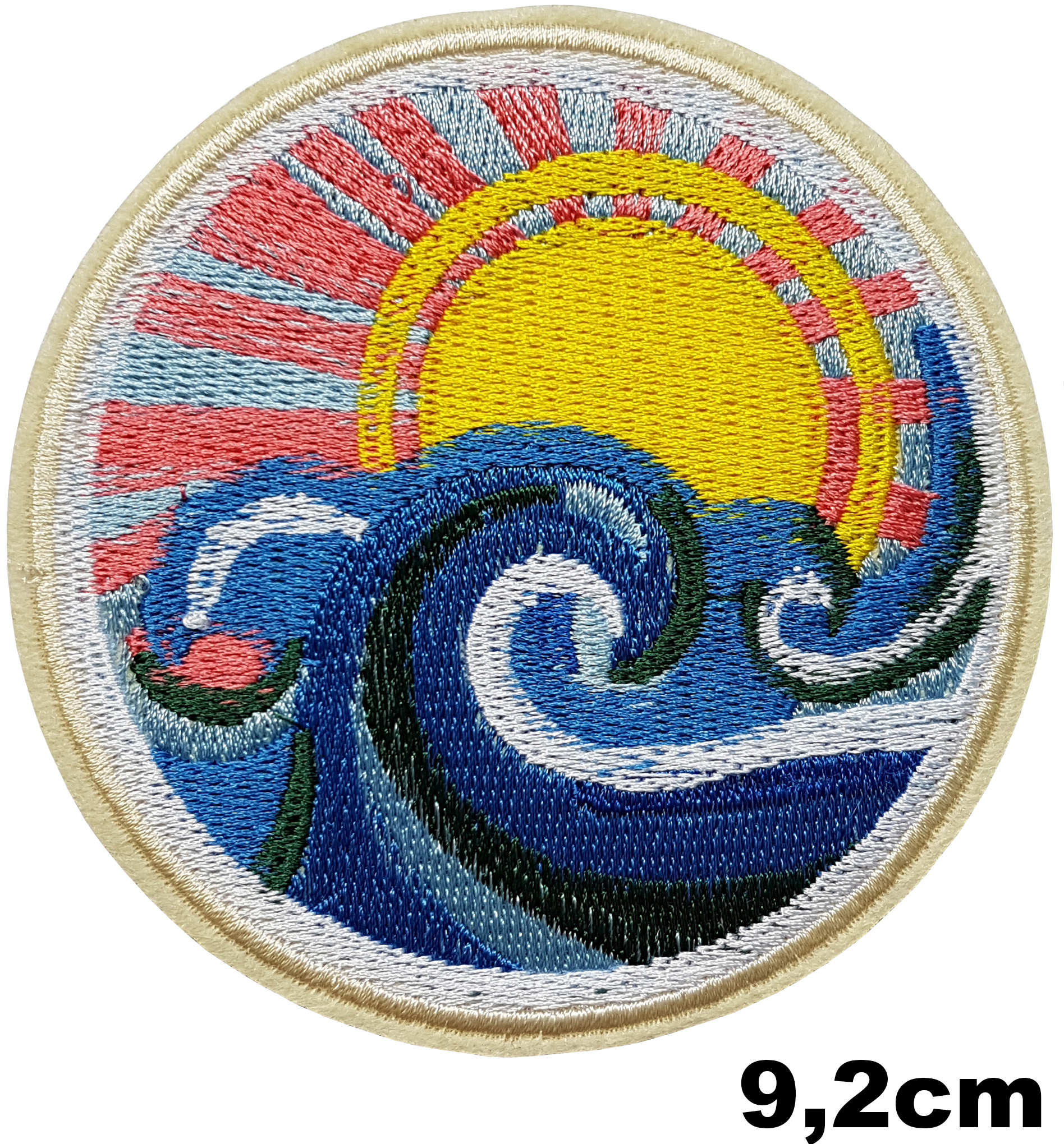 Patch Japon estampe soleil levant vague