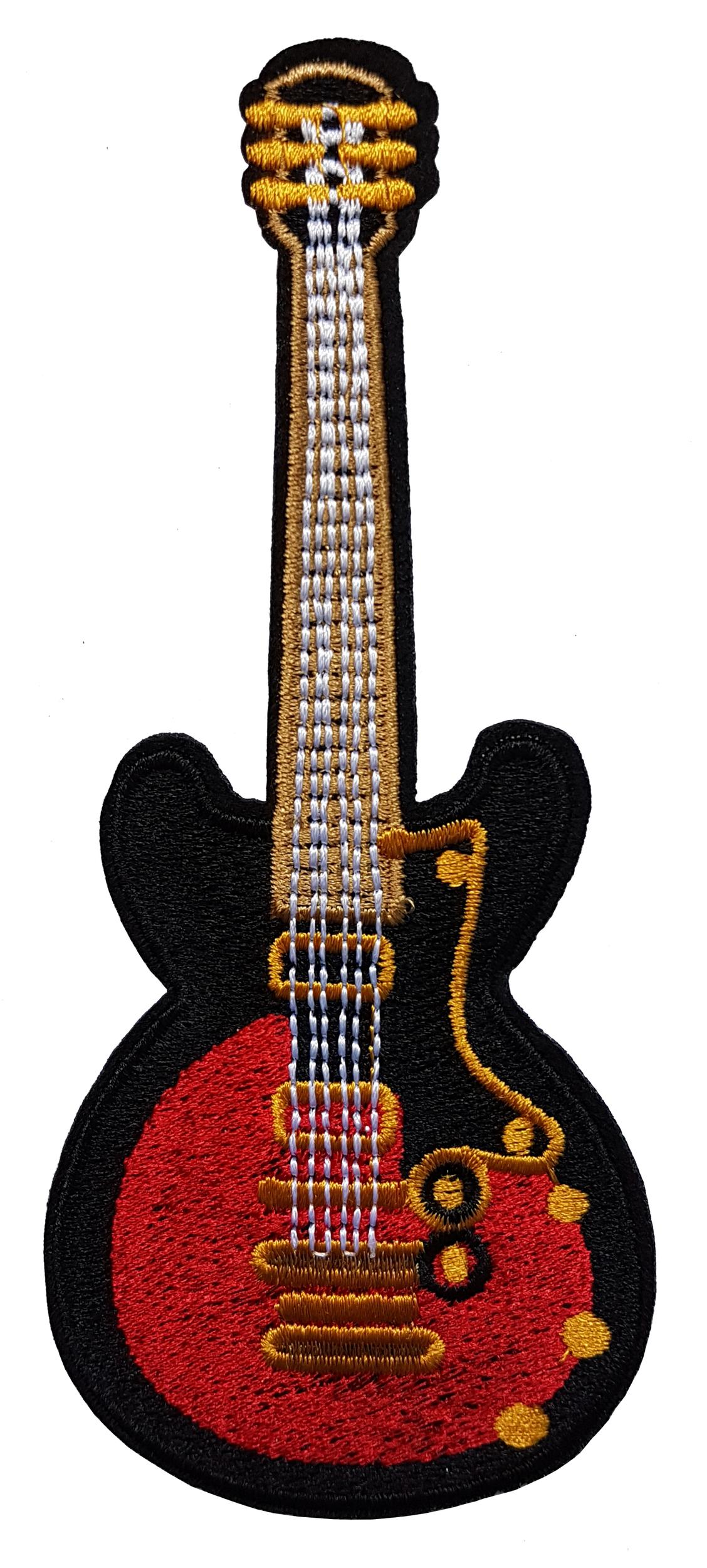Patch guitare électrique noir et rouge