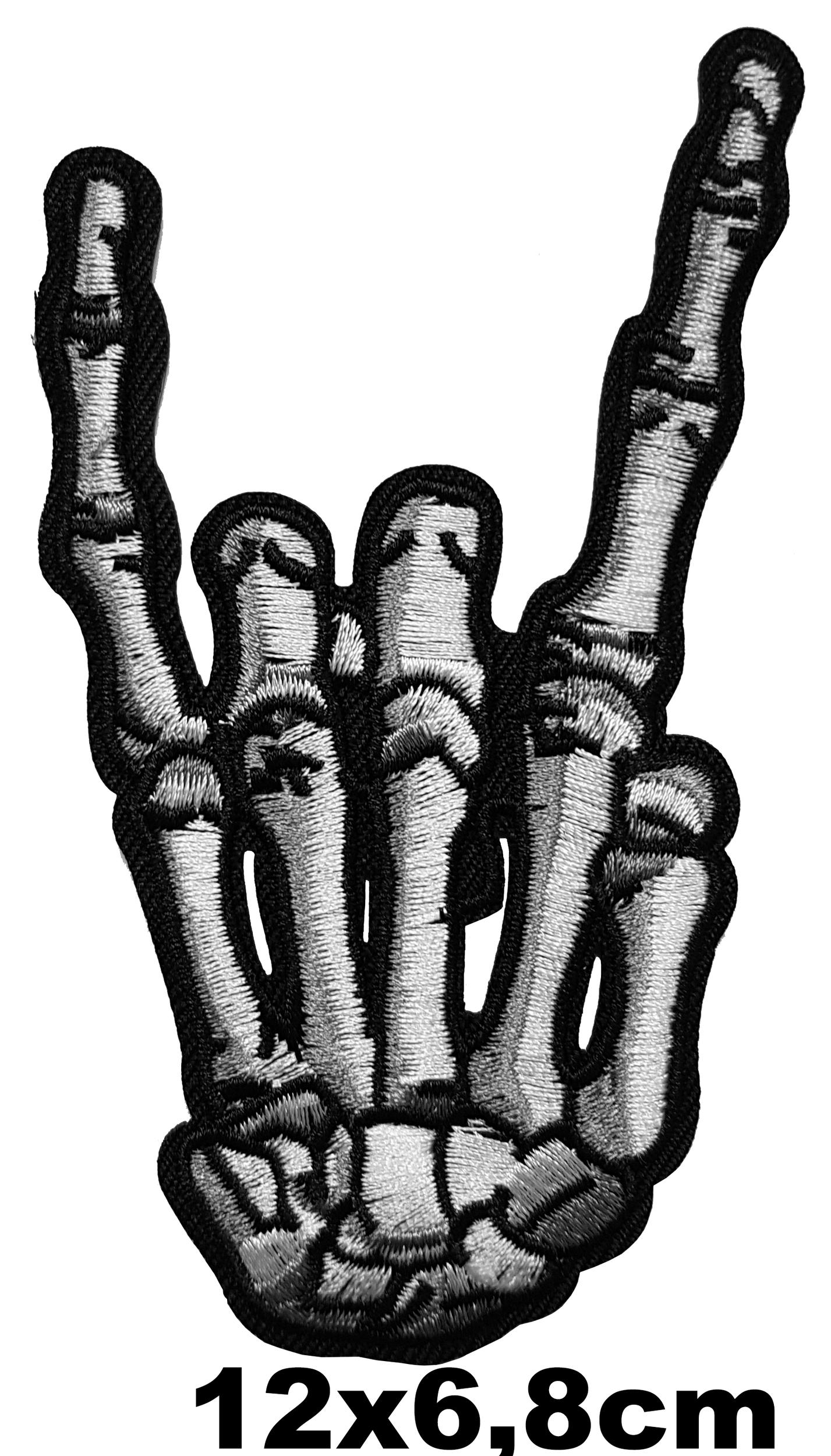 patch main squelette corne de diable