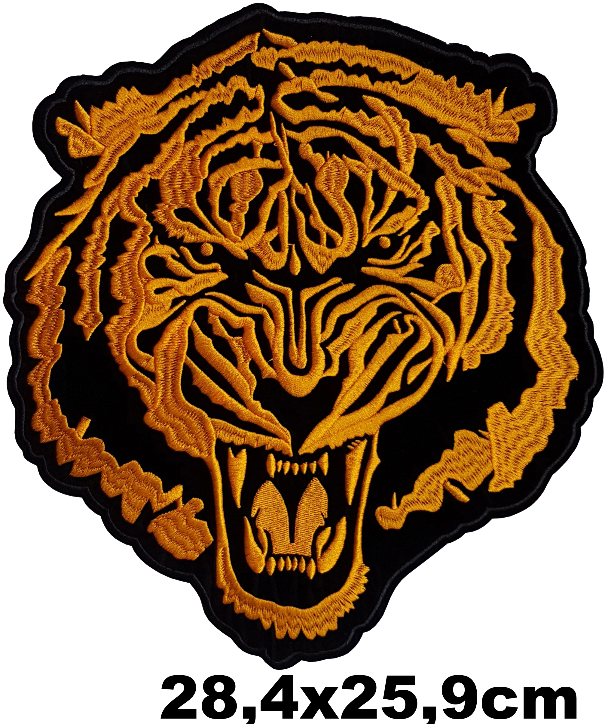 Grand Patch Thermocollant Tigre Rugissant