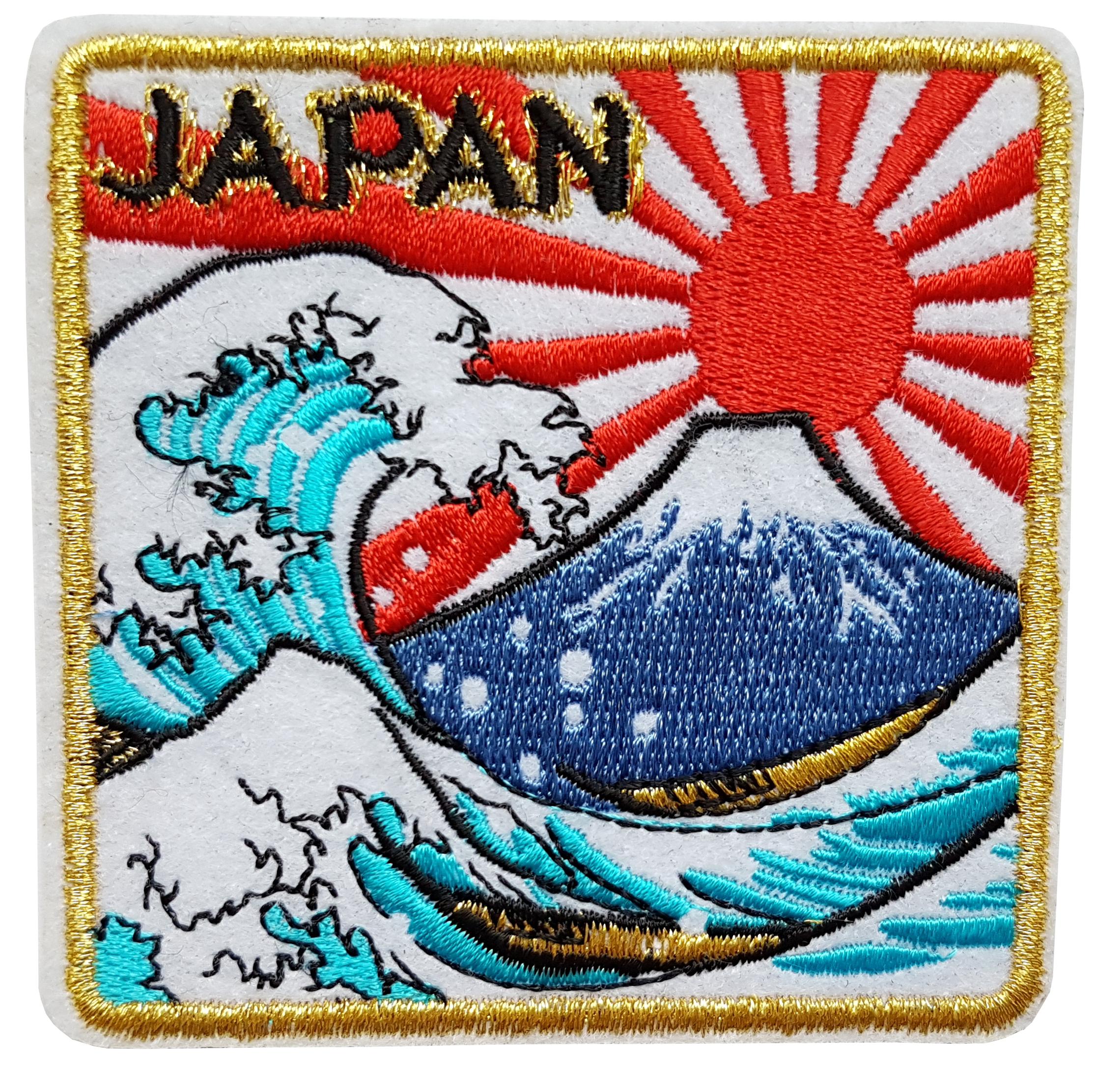 Patch mont fuji grande vague de kanagawa