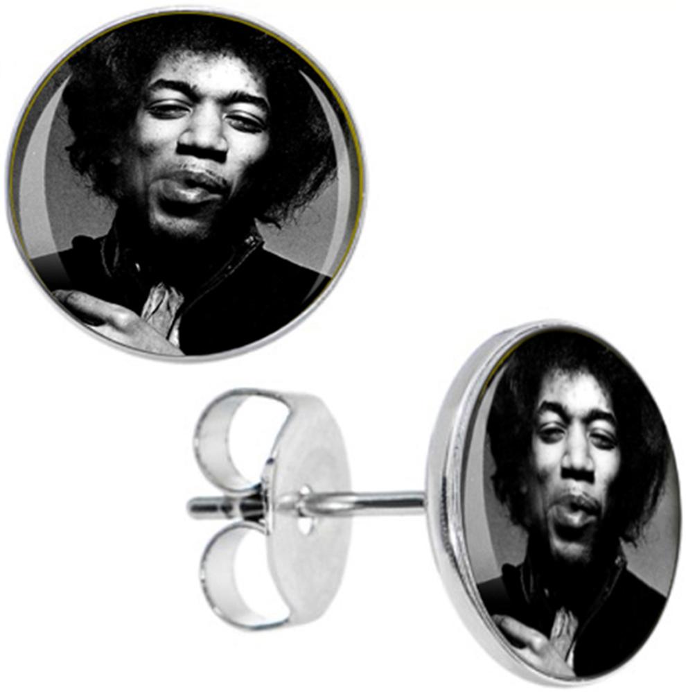 Boucles d\'Oreille Clous Puces Acier Inoxydable - Jimi Hendrix