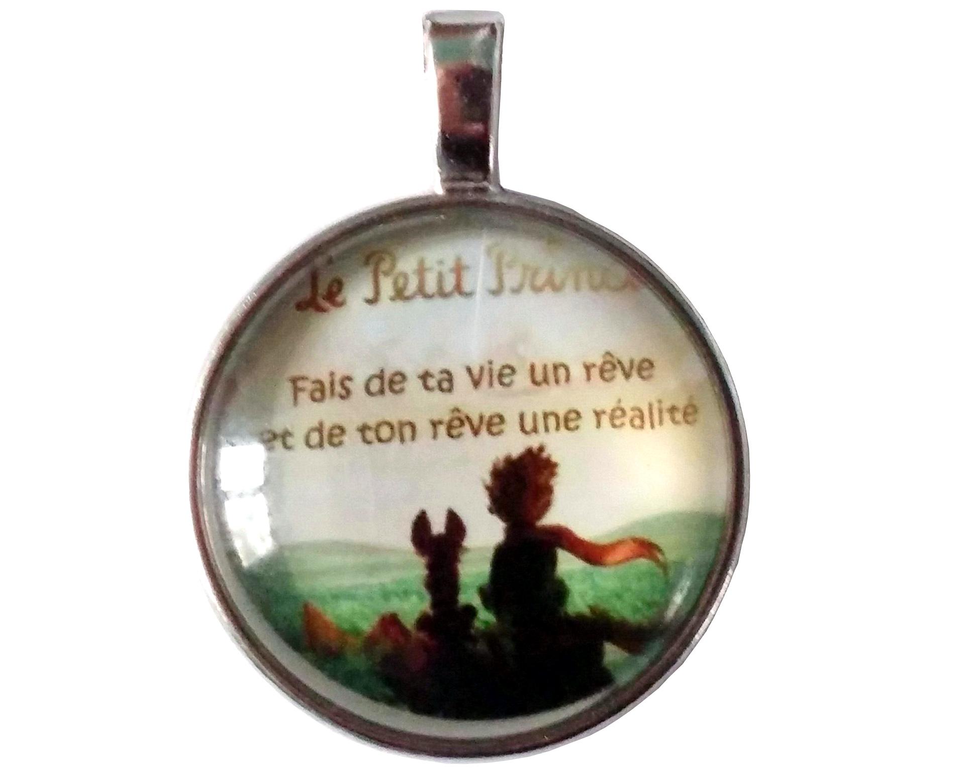 Pendentif Métal Le Petit Prince Antoine de Saint-Exupéry