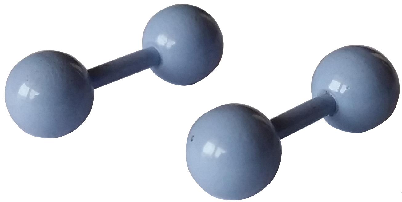 Faux Ecarteur Plug Boules Bleu Ciel Acier Inoxydable 5mm