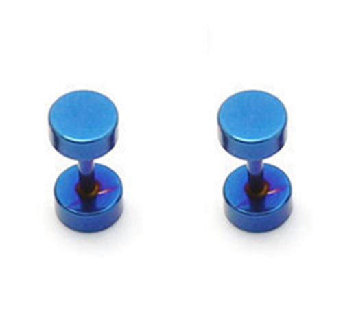 Piercings Faux Écarteurs Plug Bleu 5mm
