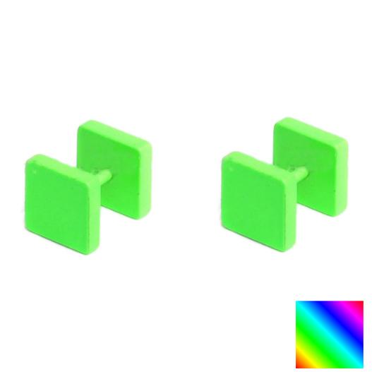 Piercings Faux Écarteurs Plug Carré 8mm