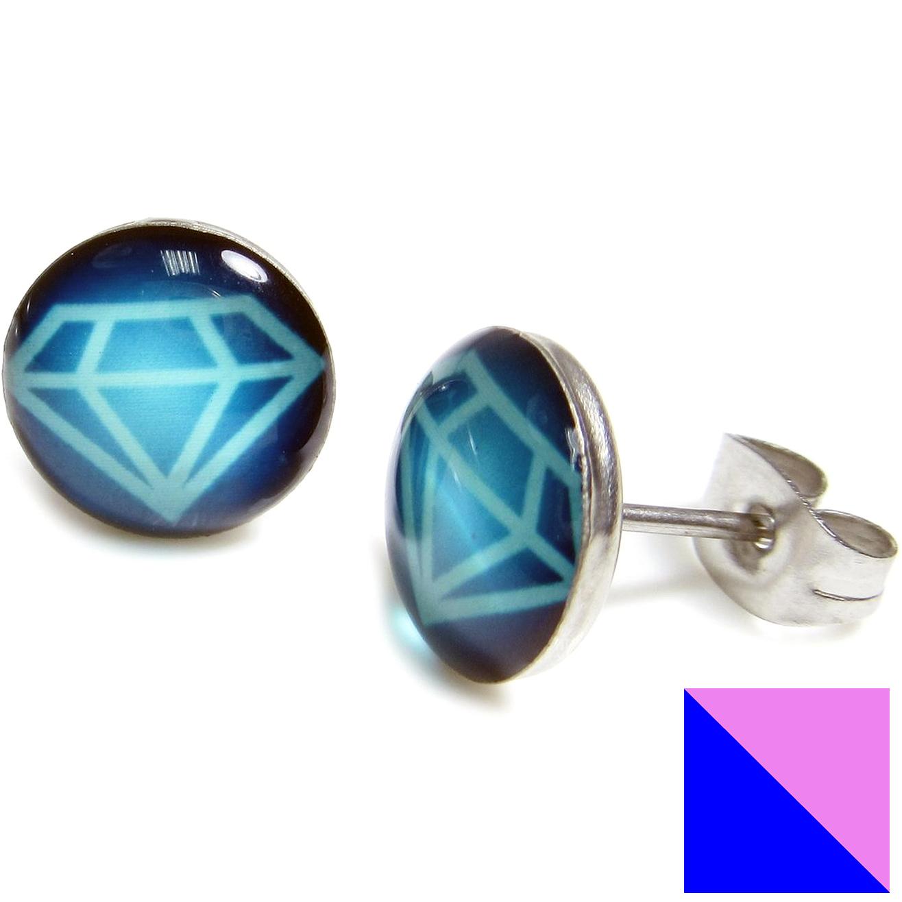 Boucles d'oreille clous Diamant Logo