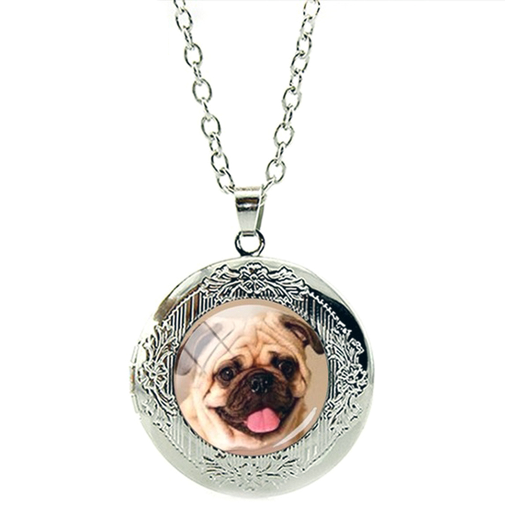 Collier Pendentif Médaillon chien Bulldog boulledogue Français