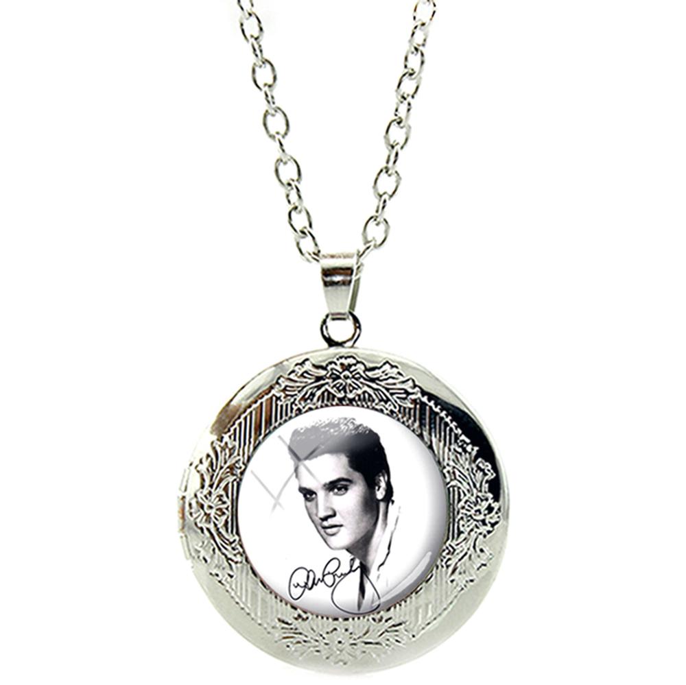 Pendentif Médaillon Elvis Presley Chaîne Réglable